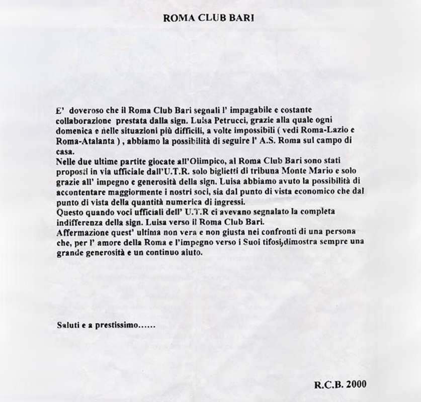 Roma Club Bari